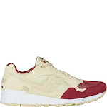Saucony Mens Shadow 5000-M Cream/Red Running Shoes