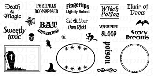 Inspired by Stamping Halloween Tags Stamp Set
