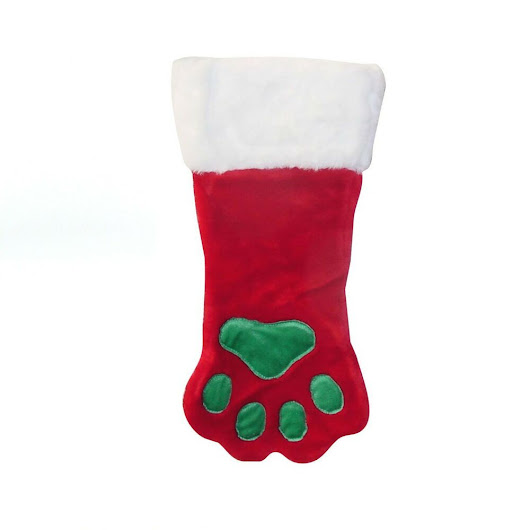 Details about Paw Print Christmas Stocking