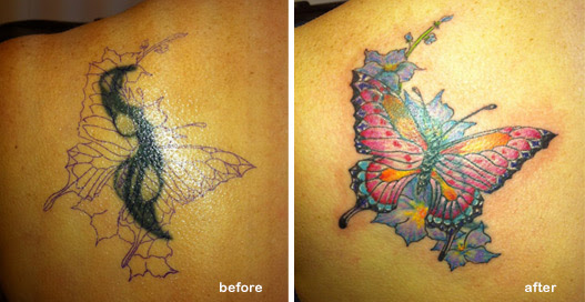 Cover Up Butterfly Tattoo Tattoo Love