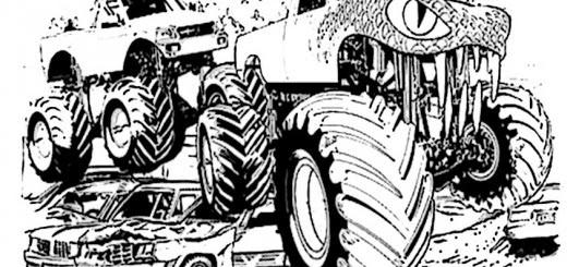 monster truck malvorlagen zum ausdrucken