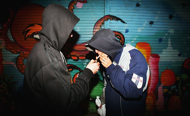 Youths in a British 'sink' estate - classical music reduces graffiti and drug dealing