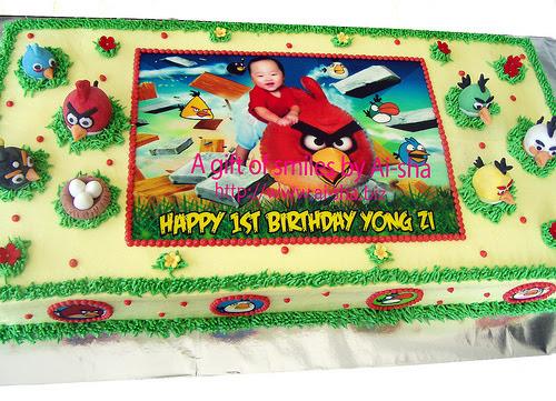 Birthday Cake Edible Image Angry Birds Ai-sha Puchong Jaya