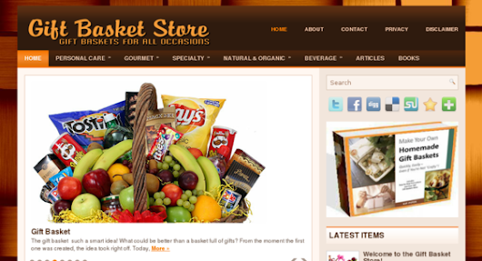 Gift-Basket-Store.xyz - starter site listed on Flippa