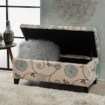 Christopher Knight Home Breanna Floral Fabric Storage Ottoman by, Size: Large