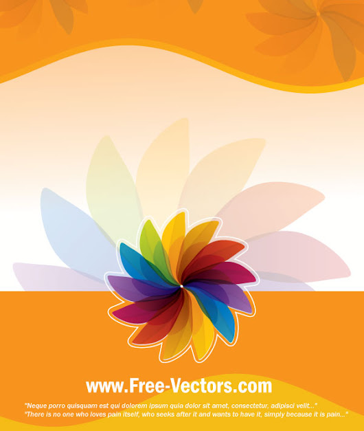 Flower Colorful Vector Background | Download Free Vector Art | Free-Vectors