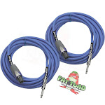 Speakon to ¼ Speaker Cables 25ft Cords -FAT TOAD 12GA Wire DJ Audio Stage Studio
