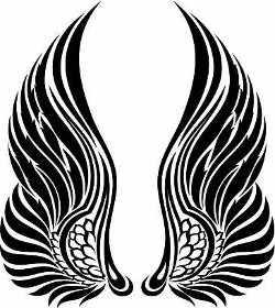Tribal Wings Tattoo Design