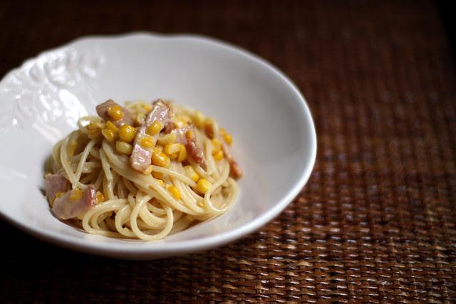 Creamy Sweet Corn and Bacon Pasta