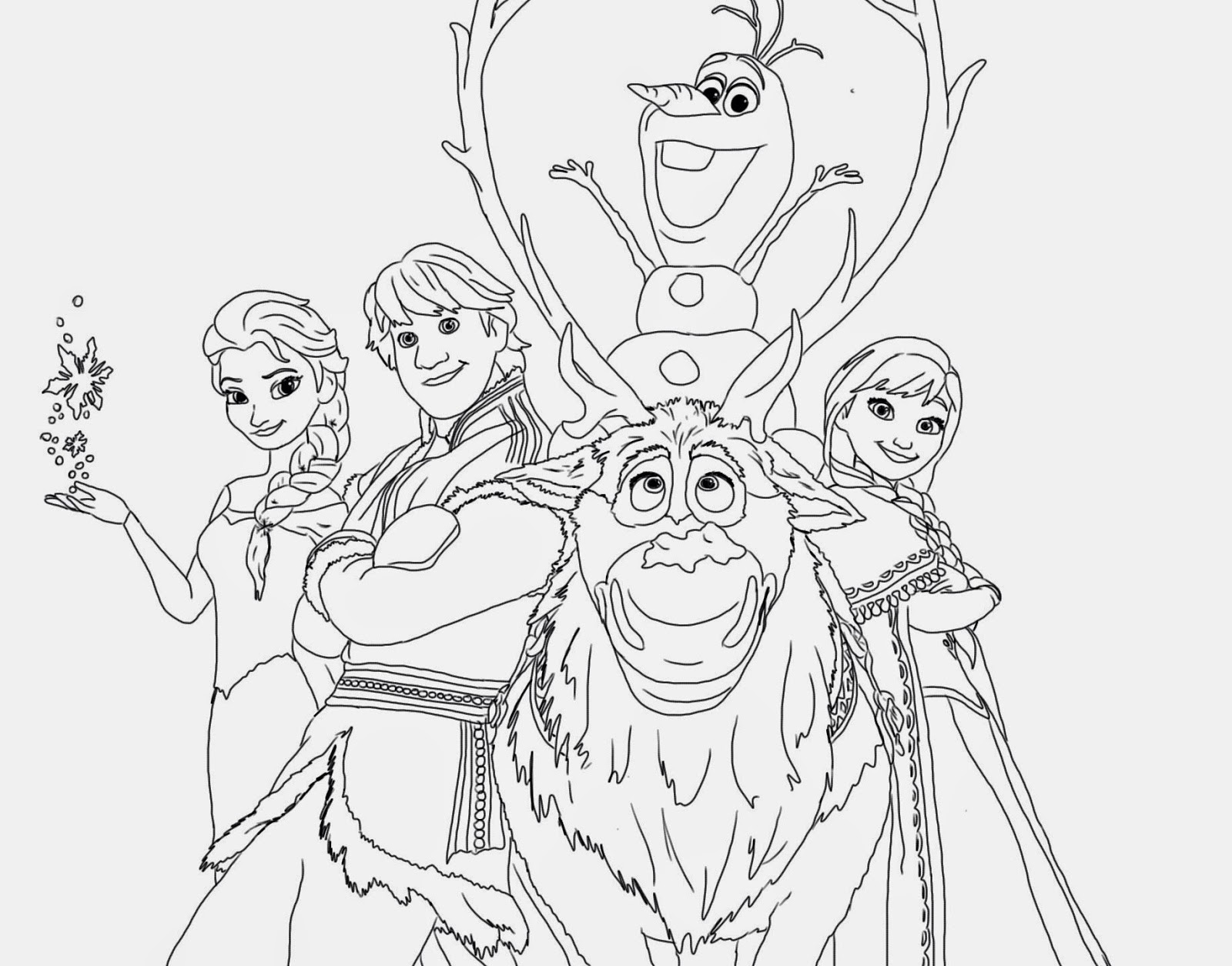 Frozen Coloring Pages For Kids Disney Drawing With Crayons