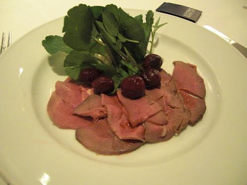 Cold roast venison, celeriac remoulade and pickled  damsons