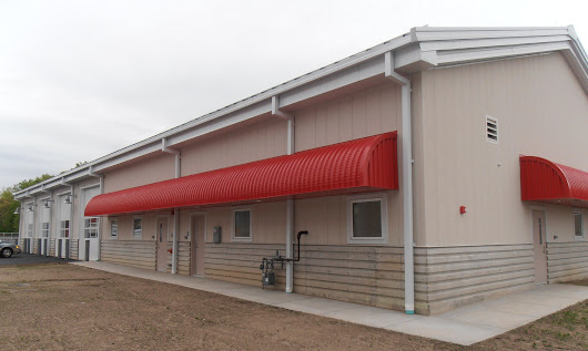 Floline's 100 Series metal canopy/awning system