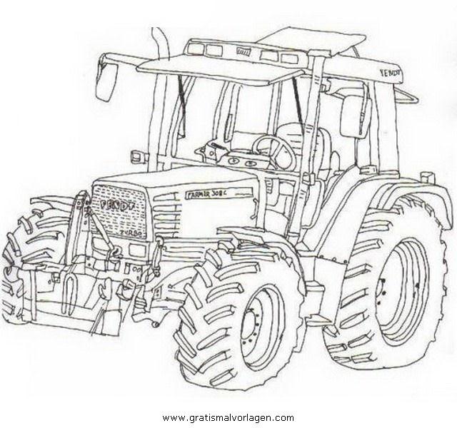 ausmalbilder bauernhof traktor