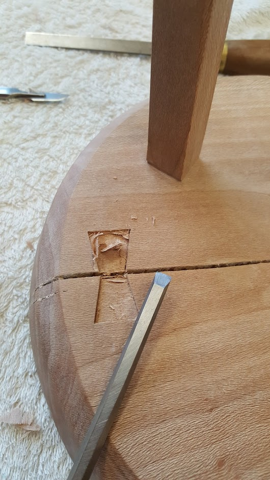 #Butterflyjoints to hold moving timber together #handtools #woodwork