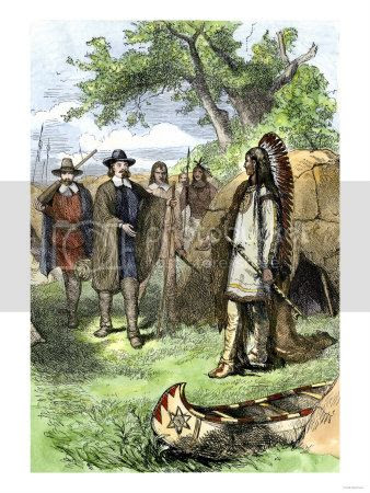 Wampanoag Native Americans at Plymouth Colony