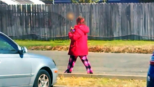 Cops follow a homeless woman carrying a head on a stick - Hip Daily