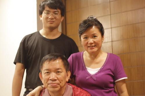 Mom and dad with Kai Fai