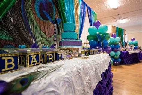 Peacock Baby Shower Baby Shower Party Ideas   Photo 9 of
