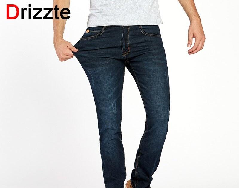 7af535ed0 Tanie Drizzte Marka Mężczyźni Denim Odcinku Slim Jeans Czarny Niebieski  Moda Trendy Spodnie Rozmiar 28 36 38 40 42 Dla Mężczyzn Jean Ceny | dawnrly