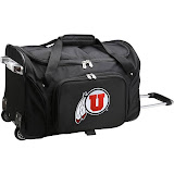 1492c0a9402 Denco NCAA Utah Wheeled Duffel Nylon Bag - Black - One Size - Google Express