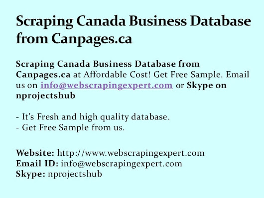 Scraping Canada Business Database from Canpages.ca