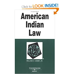 Canbys American Indian Law In A Nutshell 5th