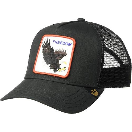 a236942eb Goorin Bros Animal Farm Trucker Snapback Hat Cap, Black Eagle ...