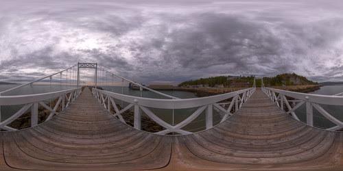 Bad Bay Bridge 2 - Pano in La Malbaie, Quebec