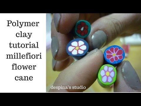 Tutorial: Millefiori flower cane 1 for beginners (polymer clay)