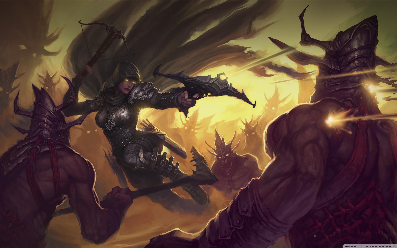 Diablo 3 Demon Hunter Ultra Hd Desktop Background Wallpaper For