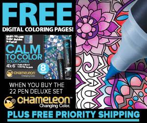Free Color Calm Downloadable Coloring Cards