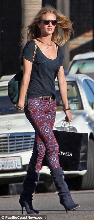 Day off: The model and actress managed to get some time out of her hectic schedule to hit the shops in sunny LA