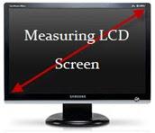 measuring LCD monitor