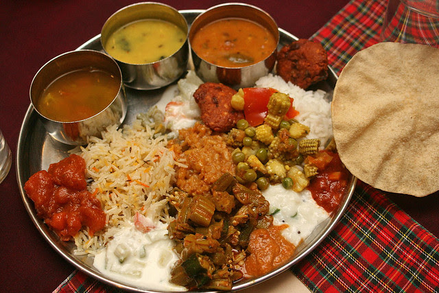 My indian vegetarian platter