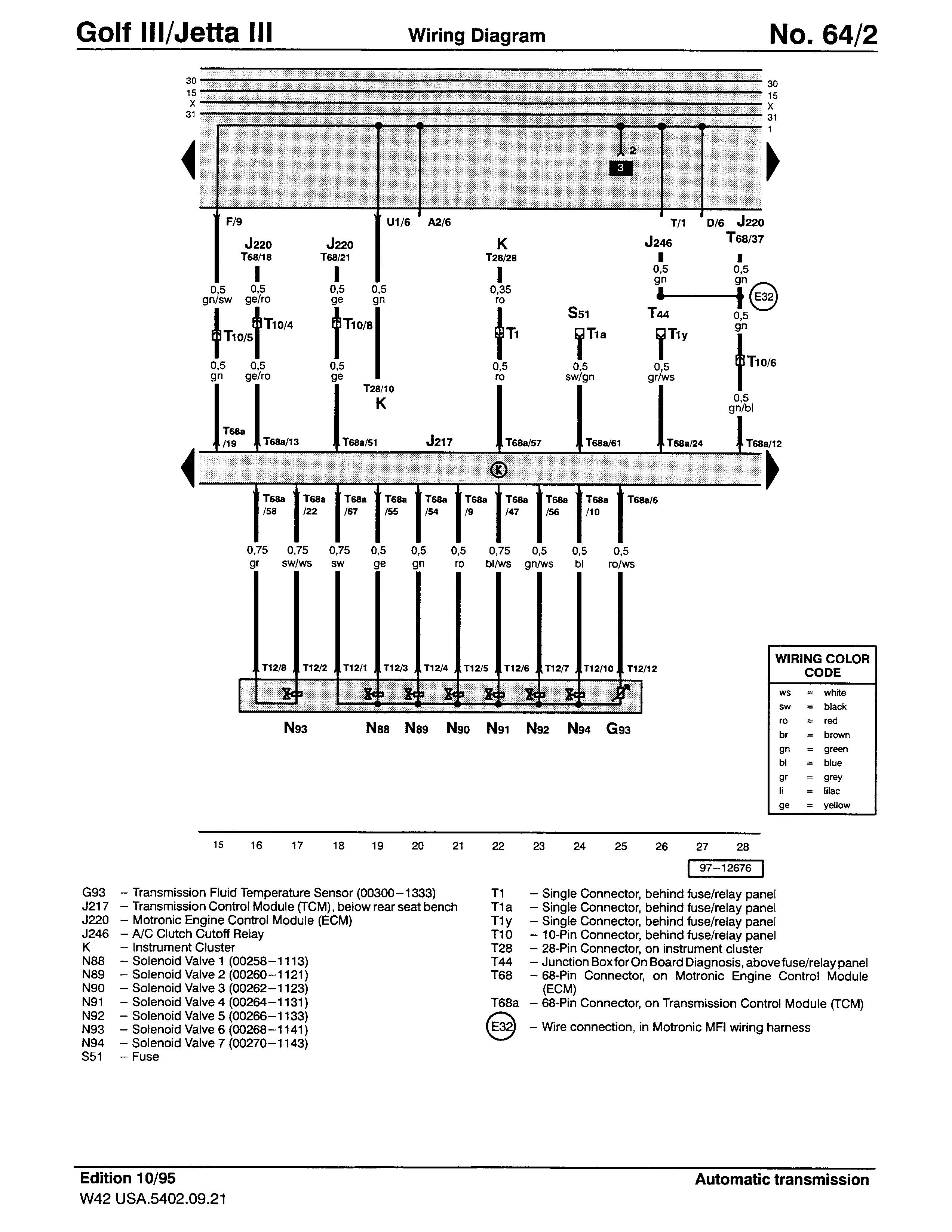 98 Volkswagen Jettum Wiring Diagram - Wiring Diagram Networks