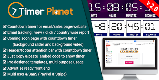 Download TimerPlanet - email,website & attention bar countdown timer nulled | OXO-NULLED