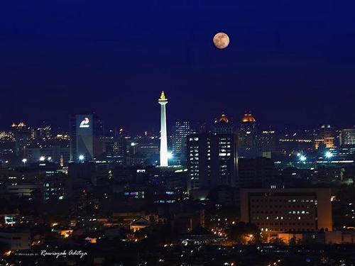 Gemerlap Cahaya Jakarta Di Malam Hari Kompasiana Com
