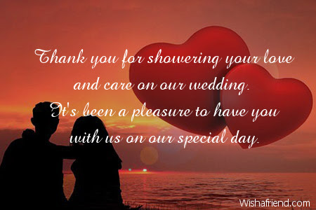 Thank You For Showering Your Love Wedding Thank You Notes