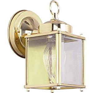 Sunset Lighting F6840-10 One Light Outdoor Wall Mount, Polished