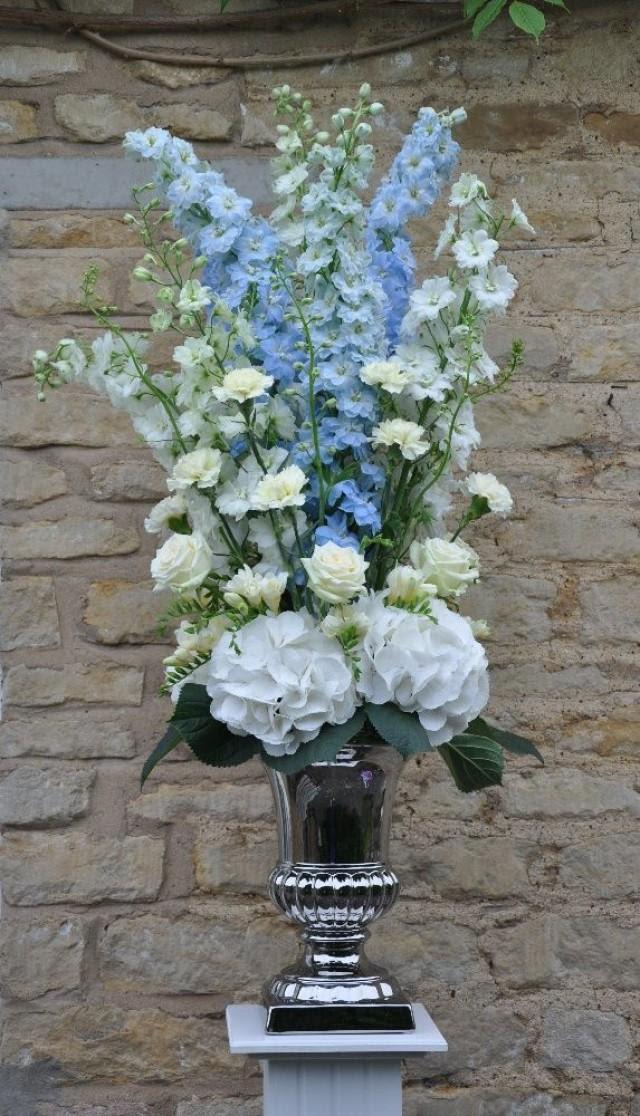 Floral Arrangements Hydrangea And Delphinium 2912130 Weddbook