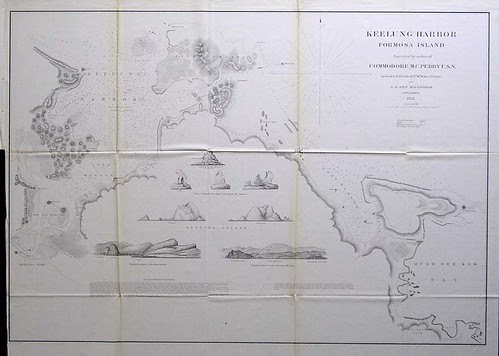 Commodore Perry's Survey Map of Keelung