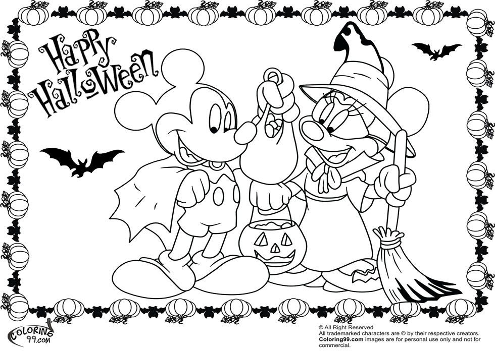 Happy Halloween And Pluto Coloring Page For Kids Printable Free Halloween For Kids Coloring And Drawing