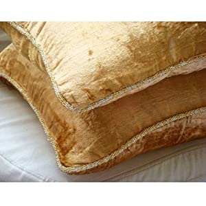 Amazon.com: Gold Shimmer - 24x24 Inches Large Decorative Pillow ...