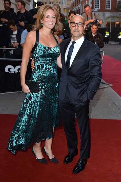 Stanley Tucci and Felicity Blunt attend the GQ Men of the Year awards at The Royal Opera House on September 2, 2014 in London, England.