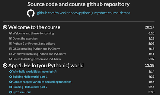 Talk Python Courses: You've asked, I've listened (and coded)
