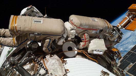 Watch a spacewalk happening right now