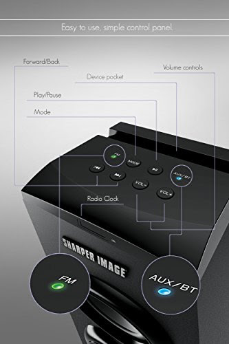 Buy Sharper Image Bluetooth Tower Speaker With A Docking Station