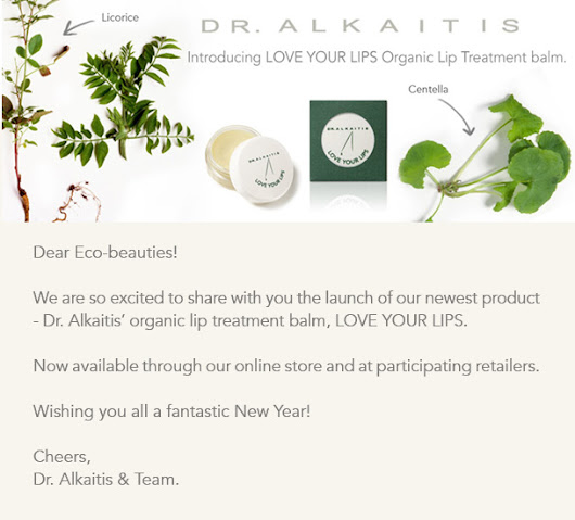 Our NEW organic lip treatment balm LOVE YOUR LIPS