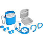Aduro 8 Piece Accessory Bundle for Airpods Blue
