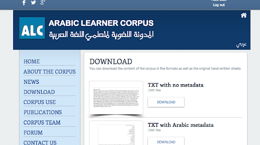 ARABIC LEARNER CORPUS - About the corpus